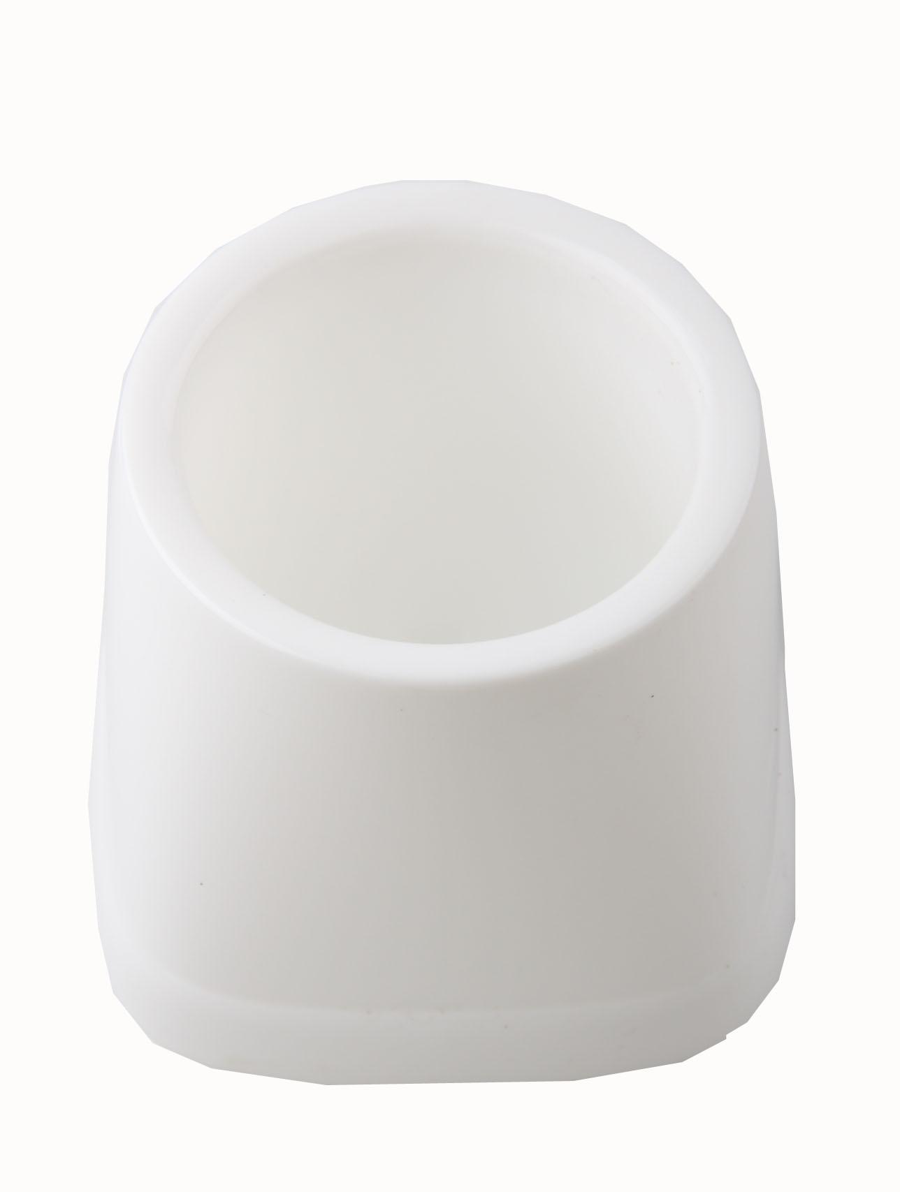 Topf für WC-Garnituren, weiß