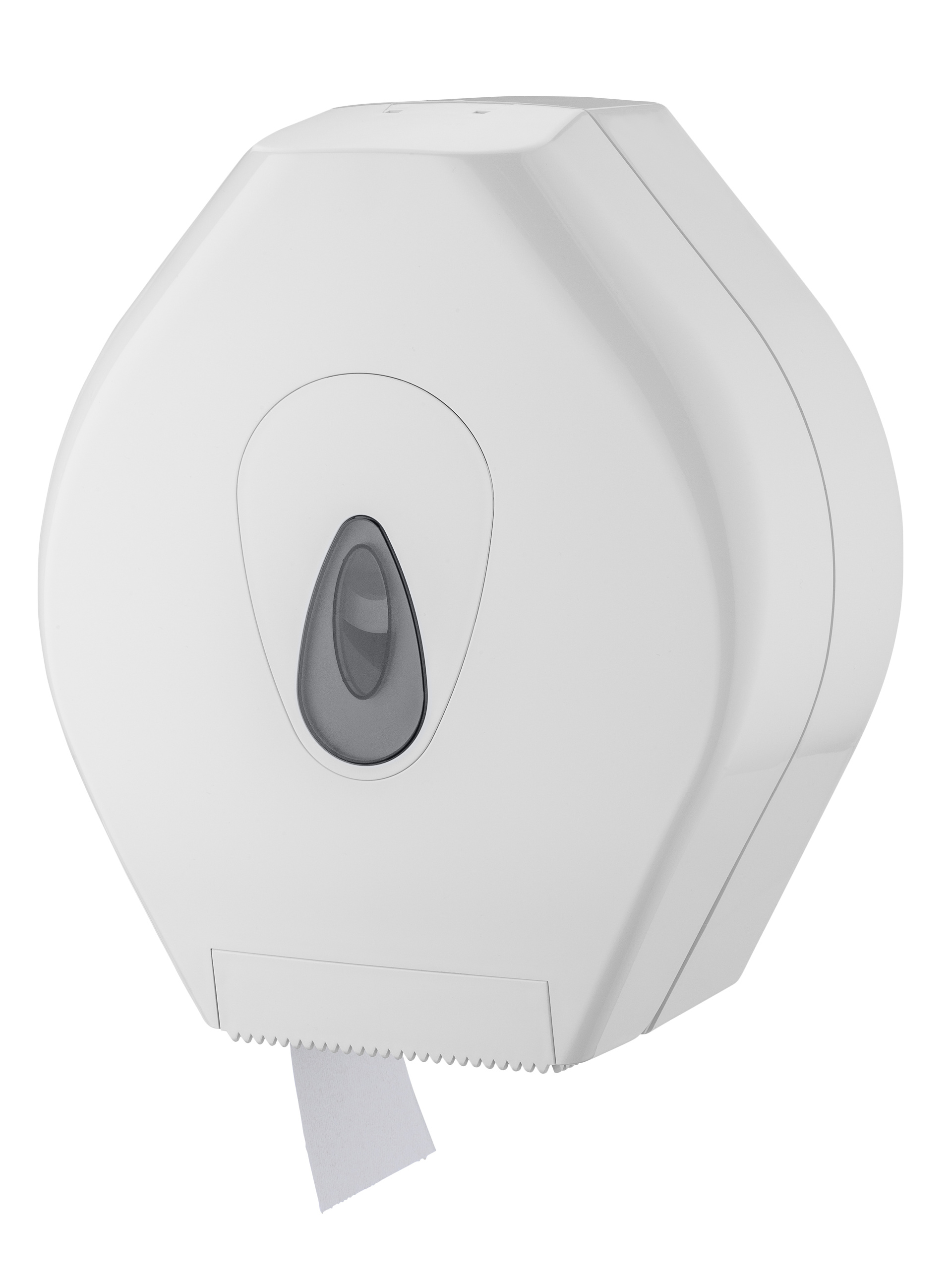Toilettenpapier Großrollenspender Maxi, Kunststoff, für Rollen bis 300 mm Ø, weiß, 37 x 34 x 13 cm