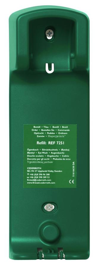 Wandhalterung passend zur Augenspülflasche 500 ml, grün, 1 Stück