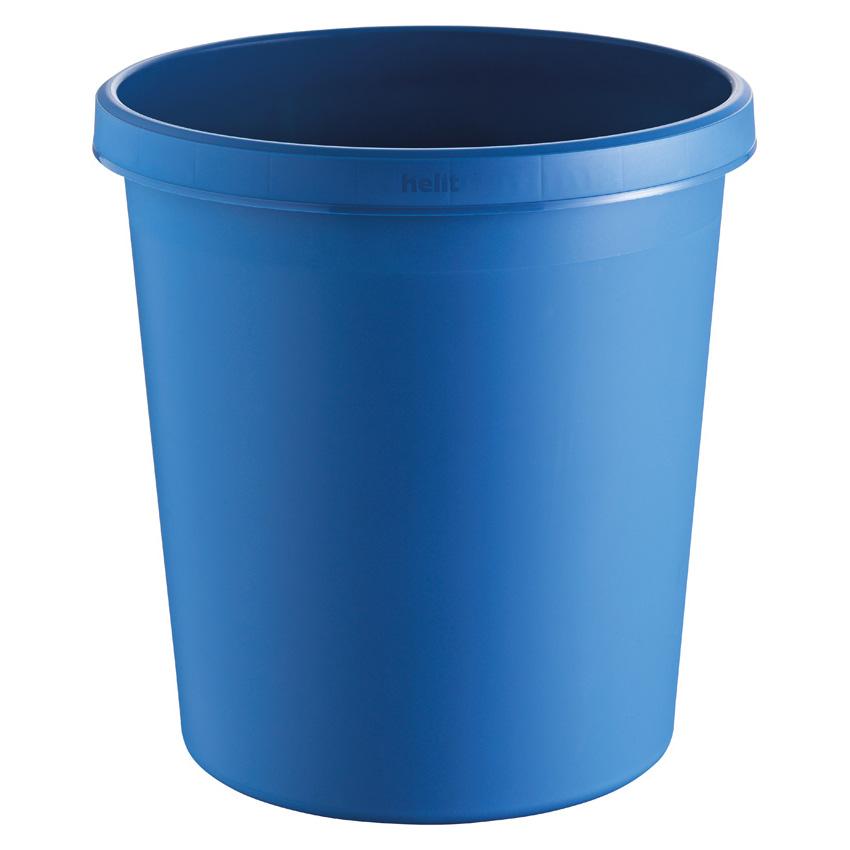 Papierkorb rund, Kunststoff, blau, 18 Liter
