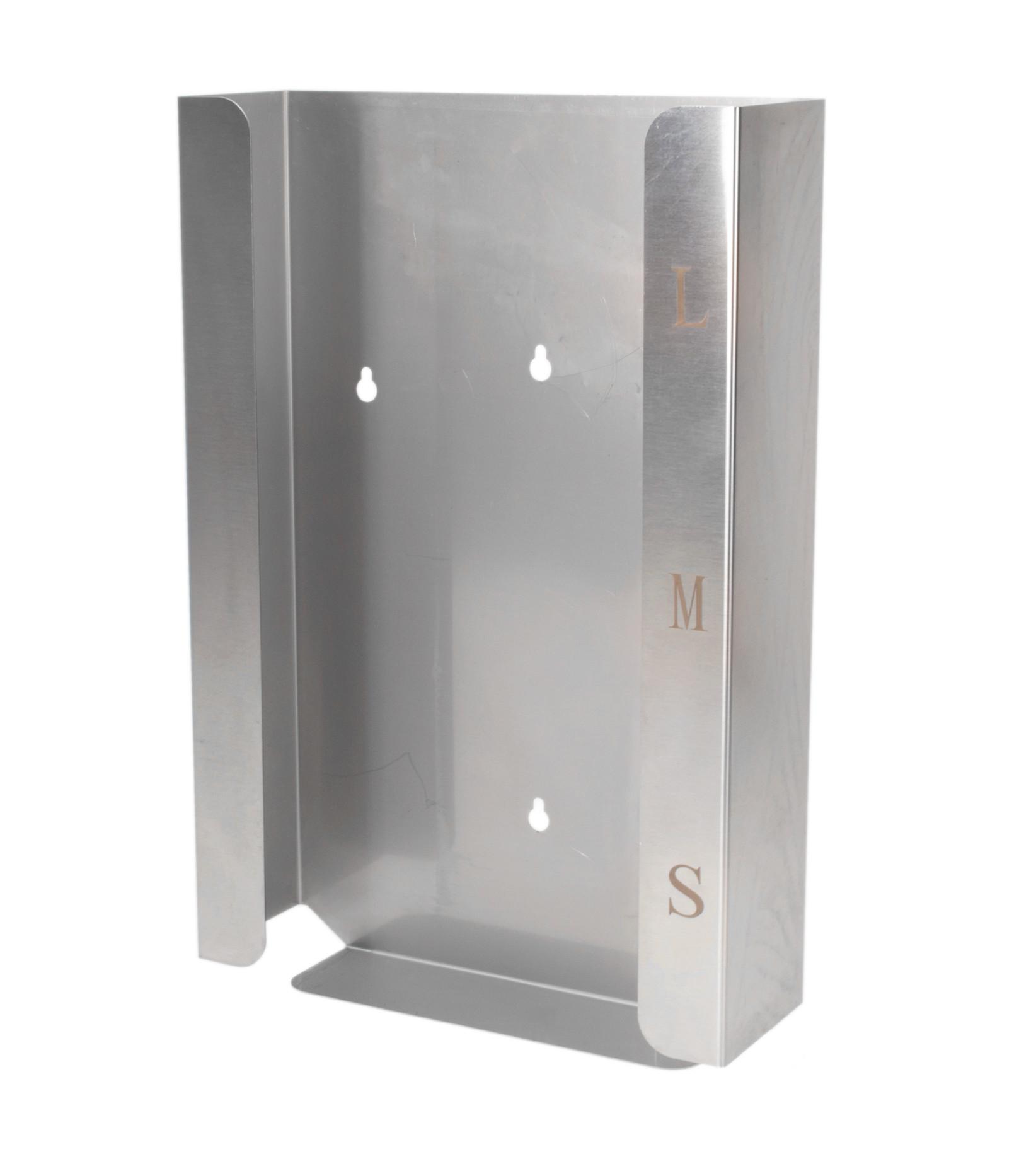 Handschuhhalter für drei Boxen, Edelstahl, zur Wandmontage, nicht rostend, Silber, 245 x 390 x 80 mm