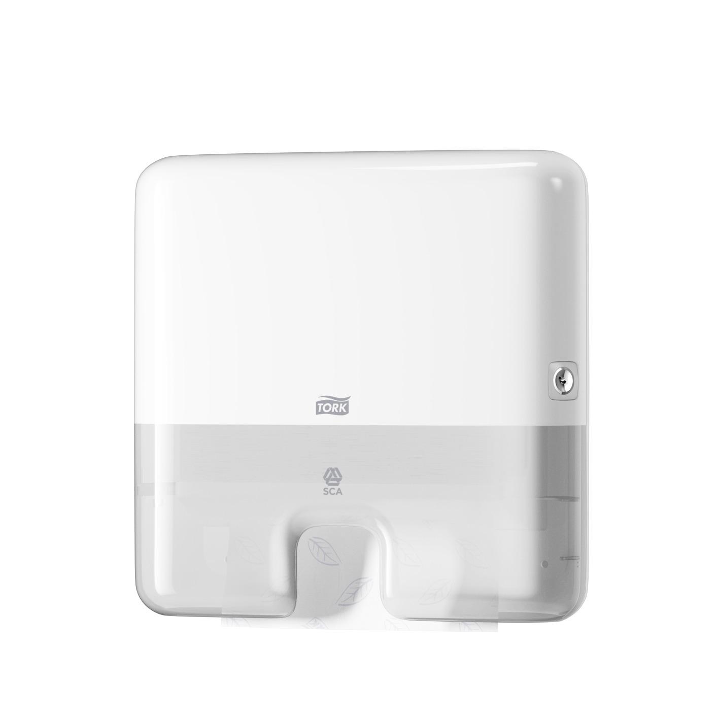 Tork Xpress Mini Spender Elevation, H2 - Interfold System, Kunststoff, weiß, 30 x 29,5 x 10 cm