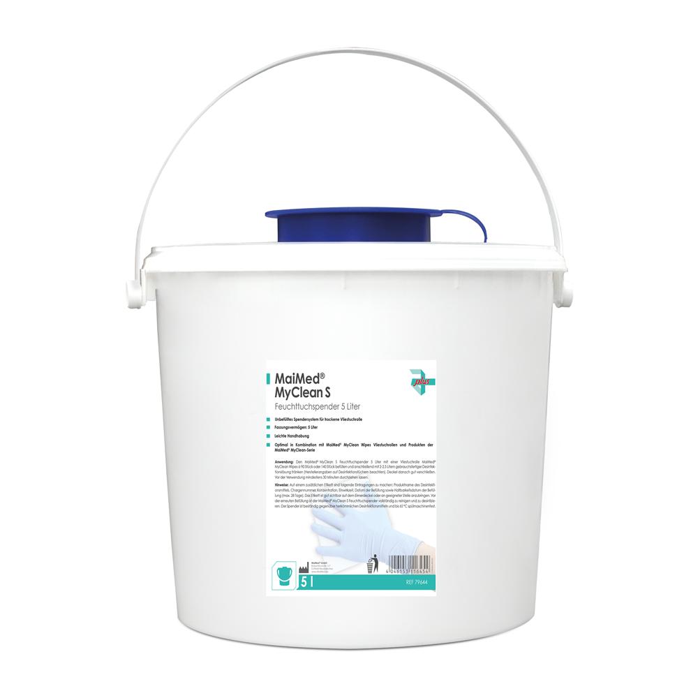 MaiMed MyClean S Feuchttuchspender, 5 Liter für 90 Tücher, weiß