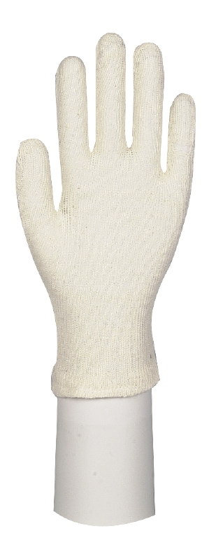 Baumwollhandschuh M (Damen), 1 Paar, weiß, medium