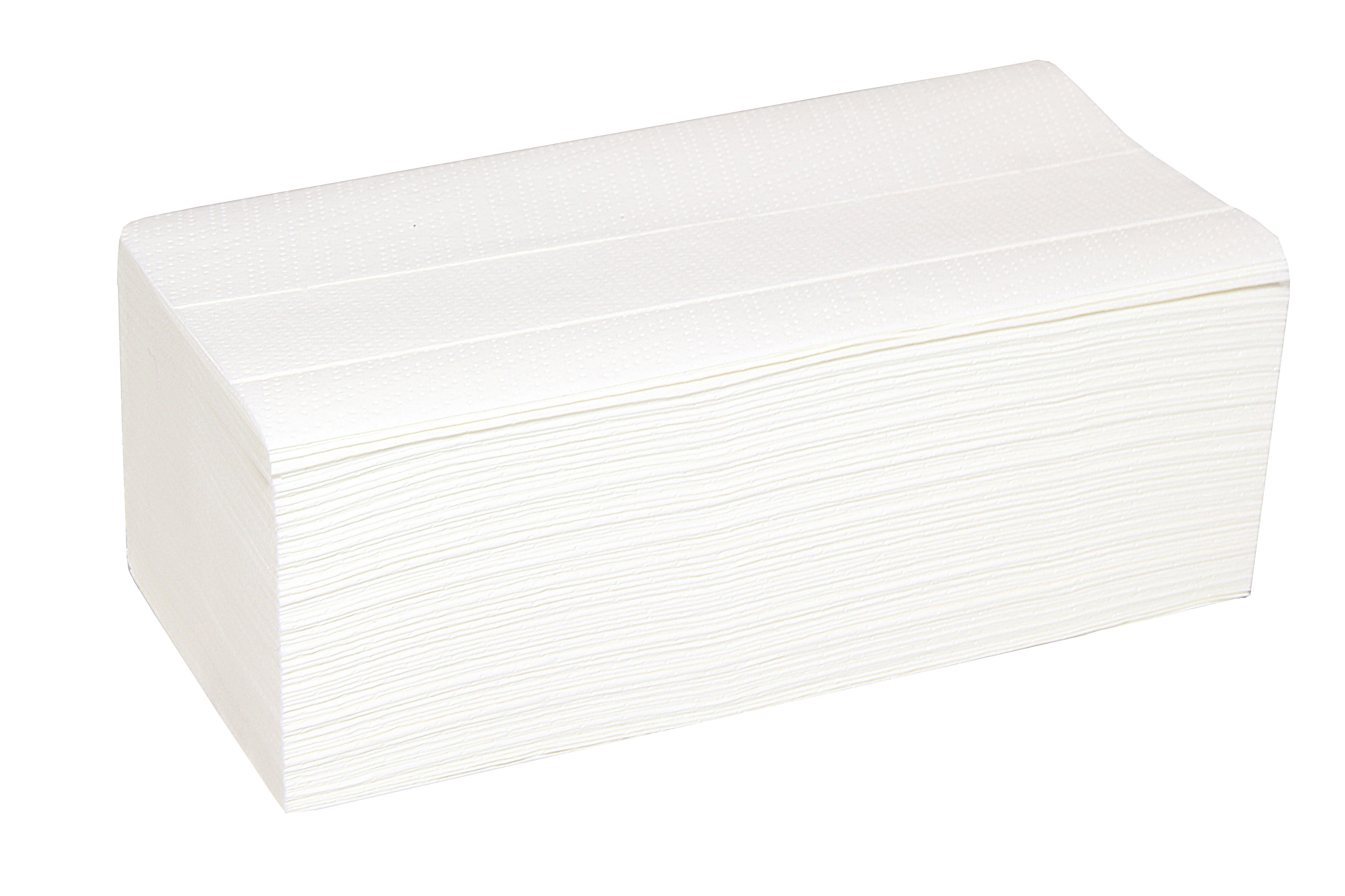 Handtuchpapier Interfold, 2-lagig, 3000 Stück, hochweiß, Zellstoff, 20,6 x 32 cm