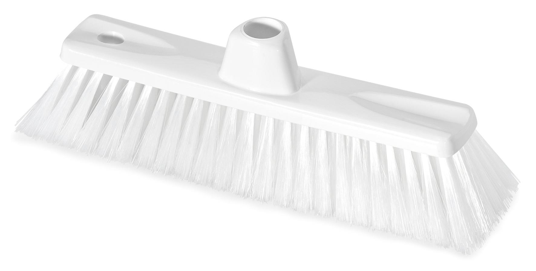 Hygiene Besen, mit Gewinde, Besteckung Polyester, weiß, 30 cm