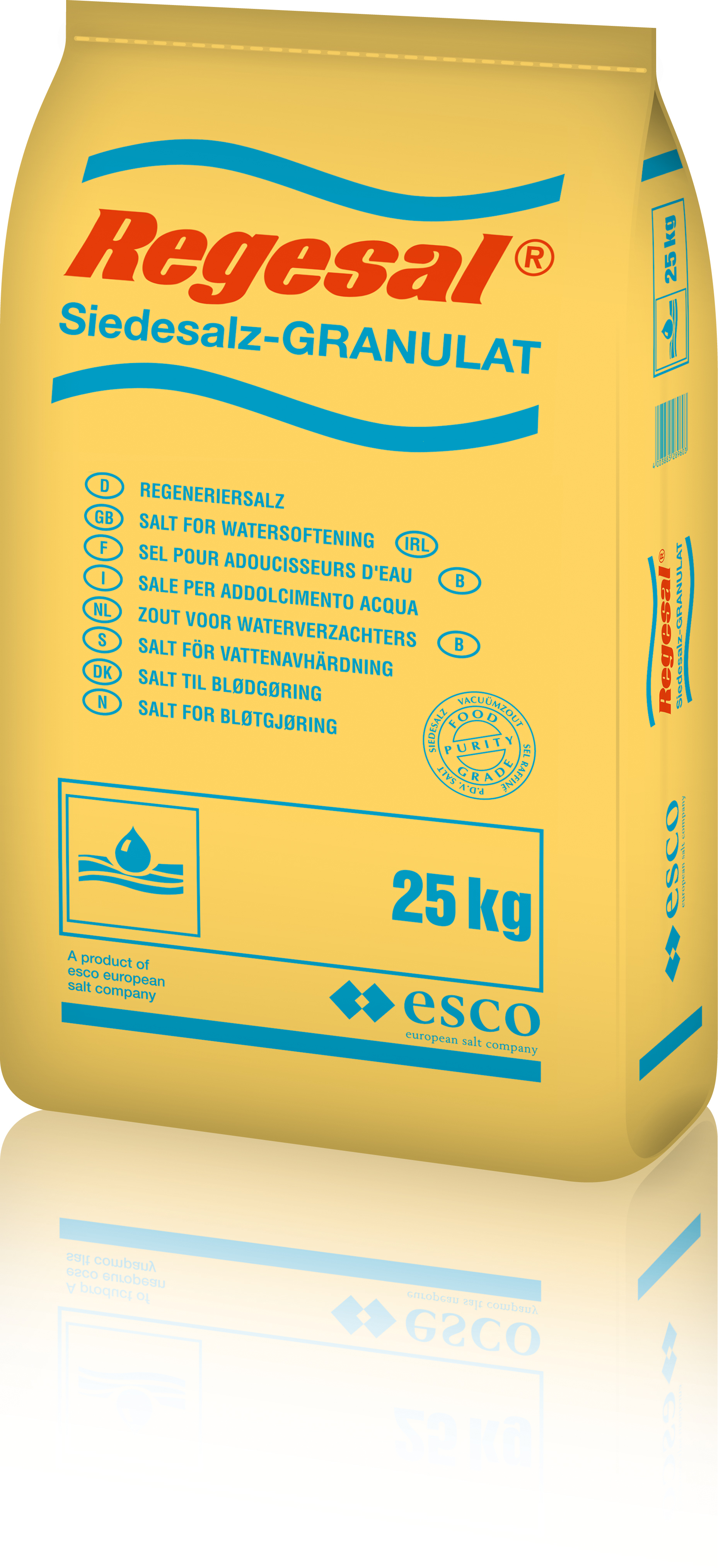 Regeneriersalz gebrochen, Regesal Granulat, weiß, 25 kg