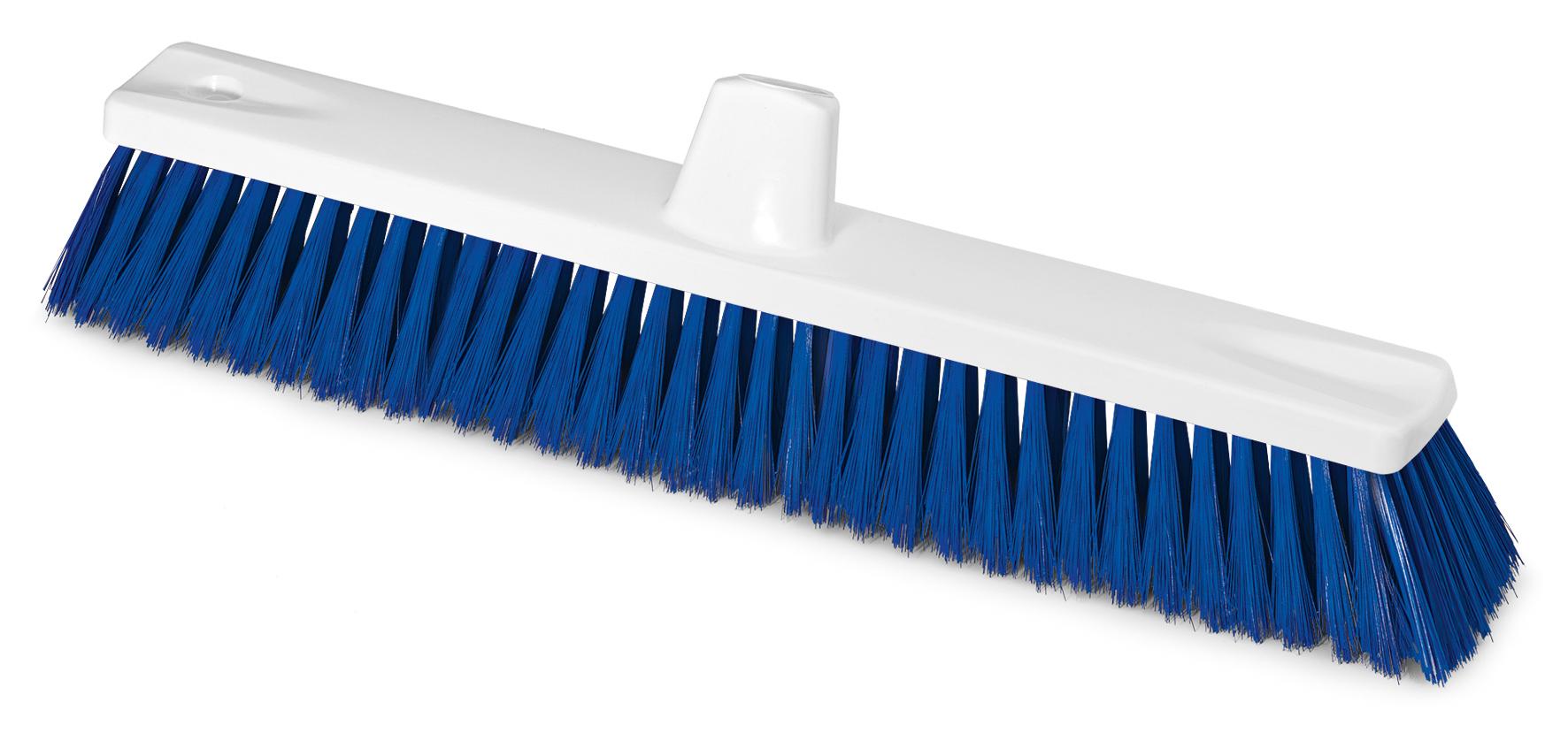 Hygiene Besen, mit Gewinde, Besteckung Polyester, blau, 45 cm