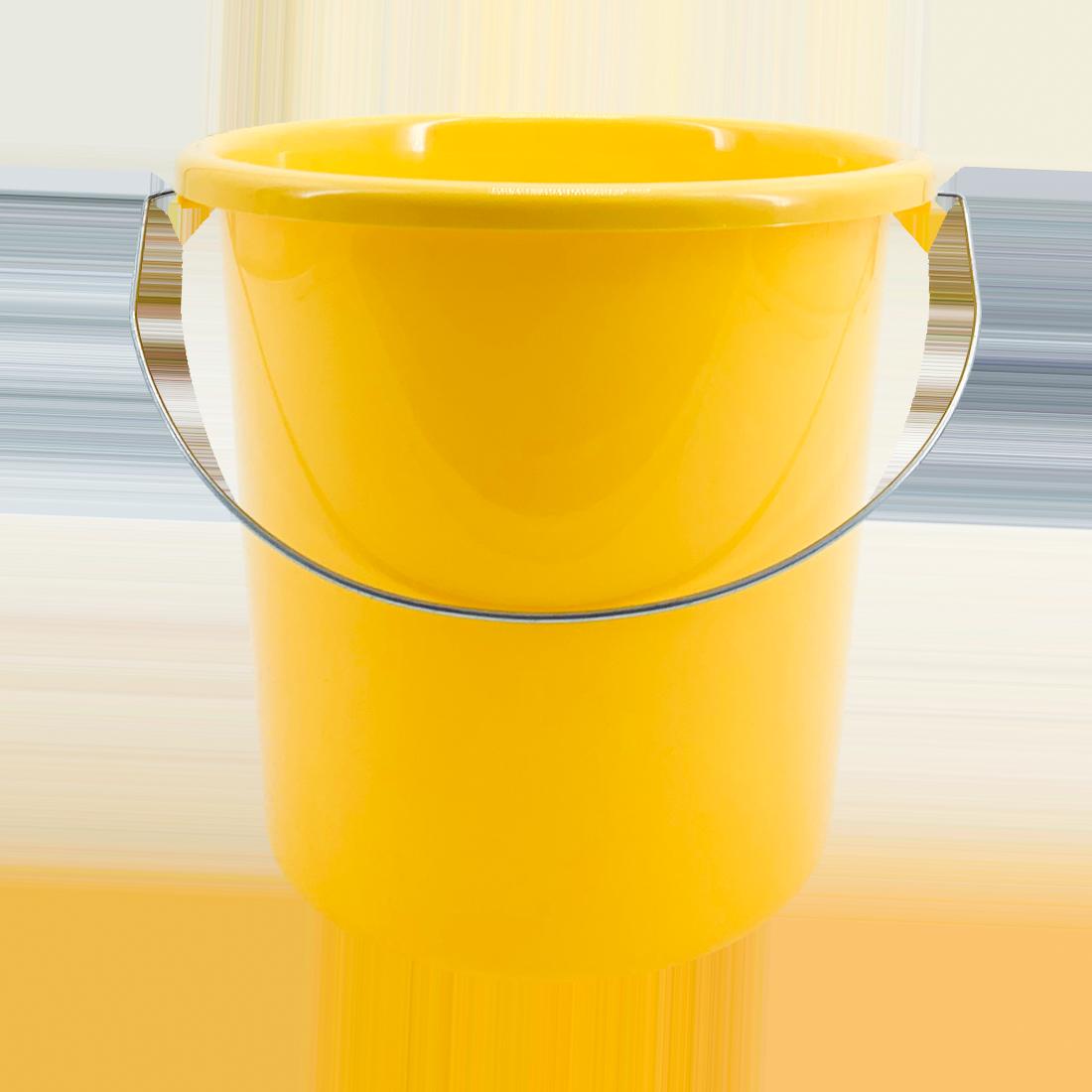 Eimer mit Metallbügel, Kunstoff, gelb, 5 Liter