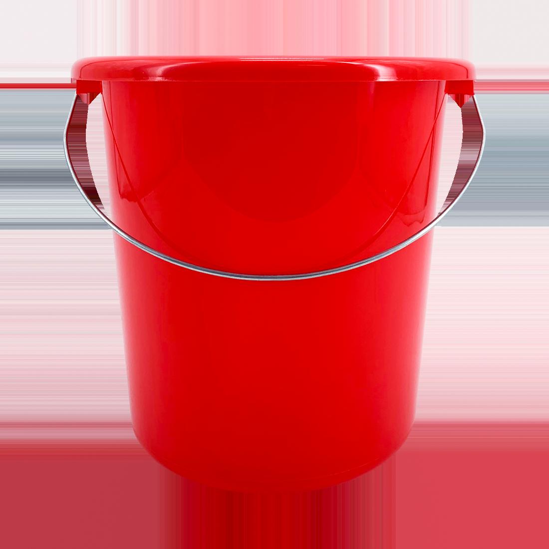Eimer mit Metallbügel, Kunstoff, rot, 10 Liter