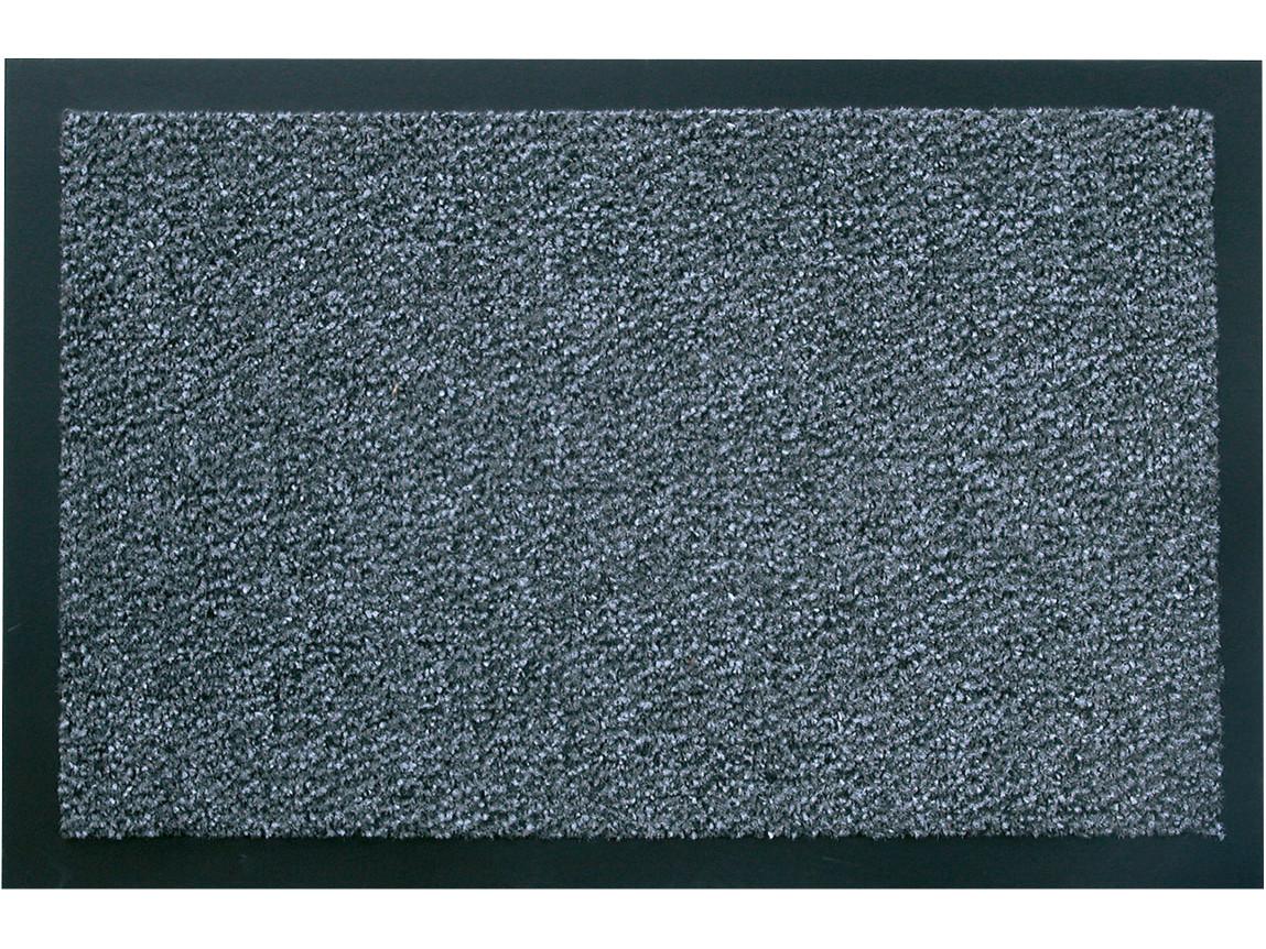 Schmutzfangmatte hochflorig, Polypropylen, rutschfester PVC Rücken, schwarz/meliert, 40 x 60 cm