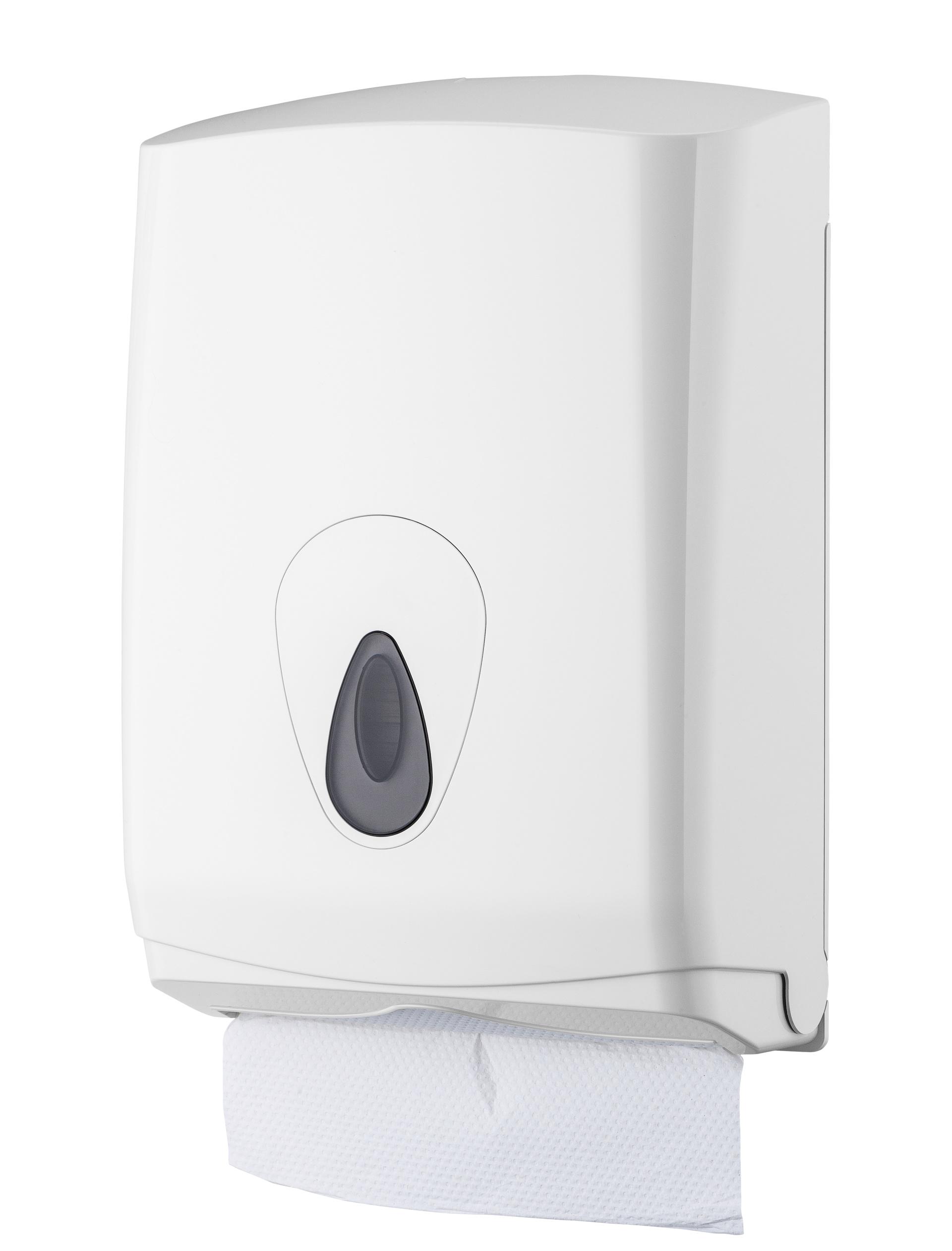 Falthandtuchspender Maxi zur Wandmontage, weiß, 42 x 29 x 14 cm