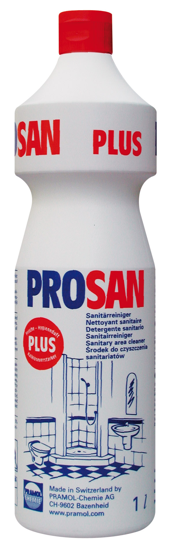 Pramol PROSAN PLUS Sanitärreiniger, rot, 1 Liter