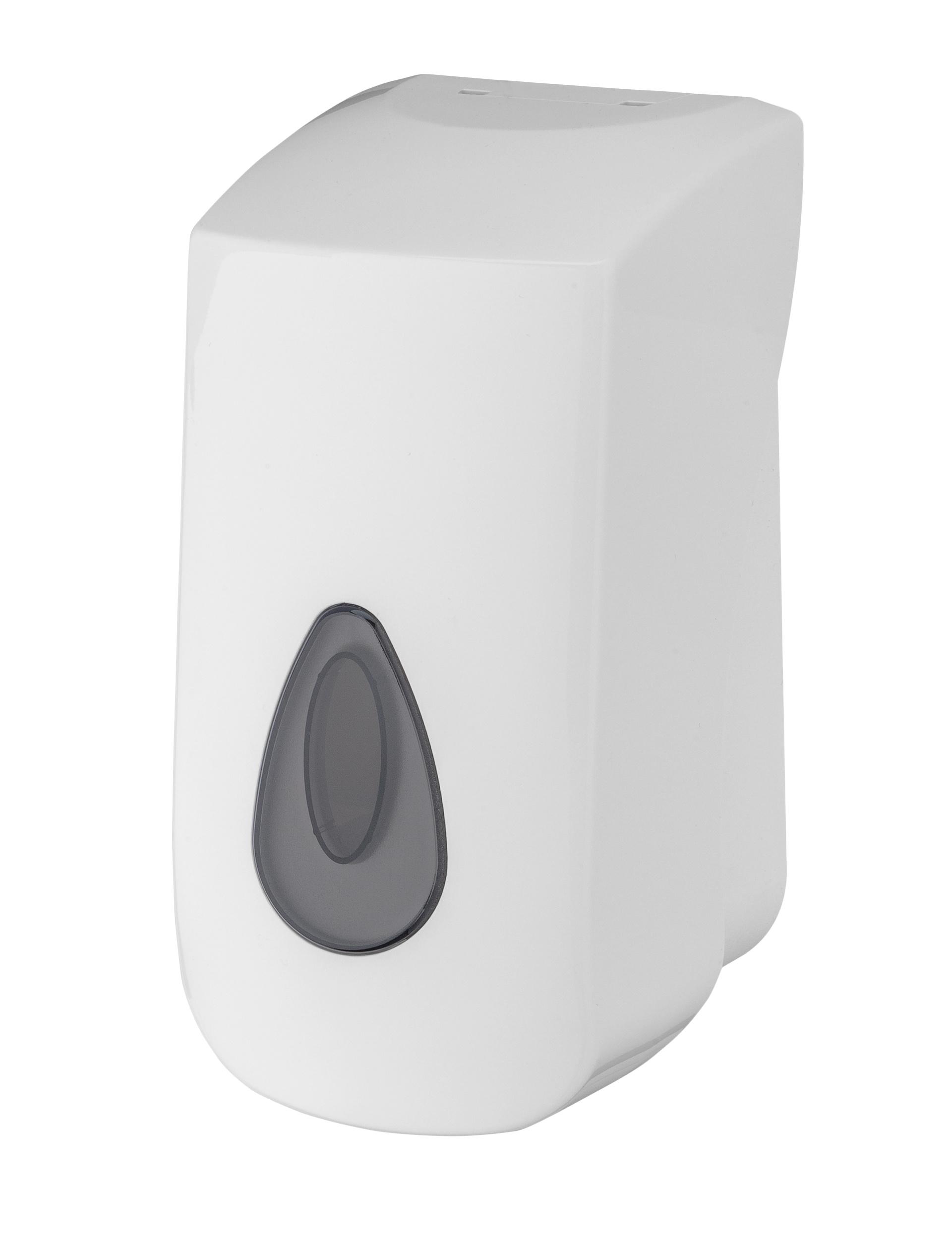 WC-Toilettensitz-Desinfektionsmittelspender, Kunststoff mit Sichtfenster, weiß, 400 ml