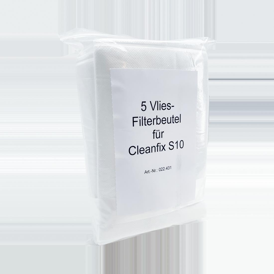 Vliesstaubbeutel für Cleanfix S10 Staubsauger, 5 Stück/Packung