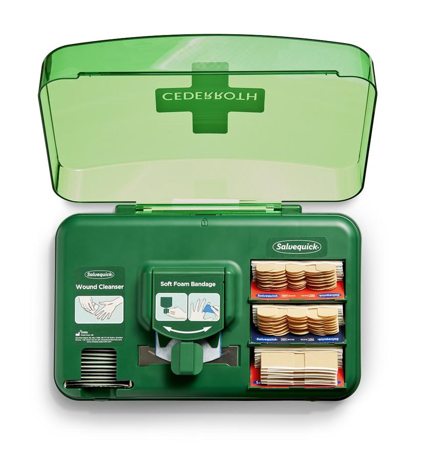 Wundversorgungsspender, gefüllt, grün, 30x 20 x 15,5 cm, 1 Stück