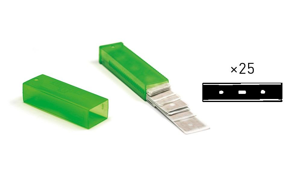 Unger Karbon-Glasschaberklingen 10 cm, 25 Stück/Packung