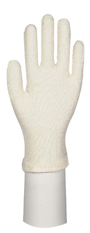 Baumwollhandschuh L (Herren), 1 Paar, weiß, large
