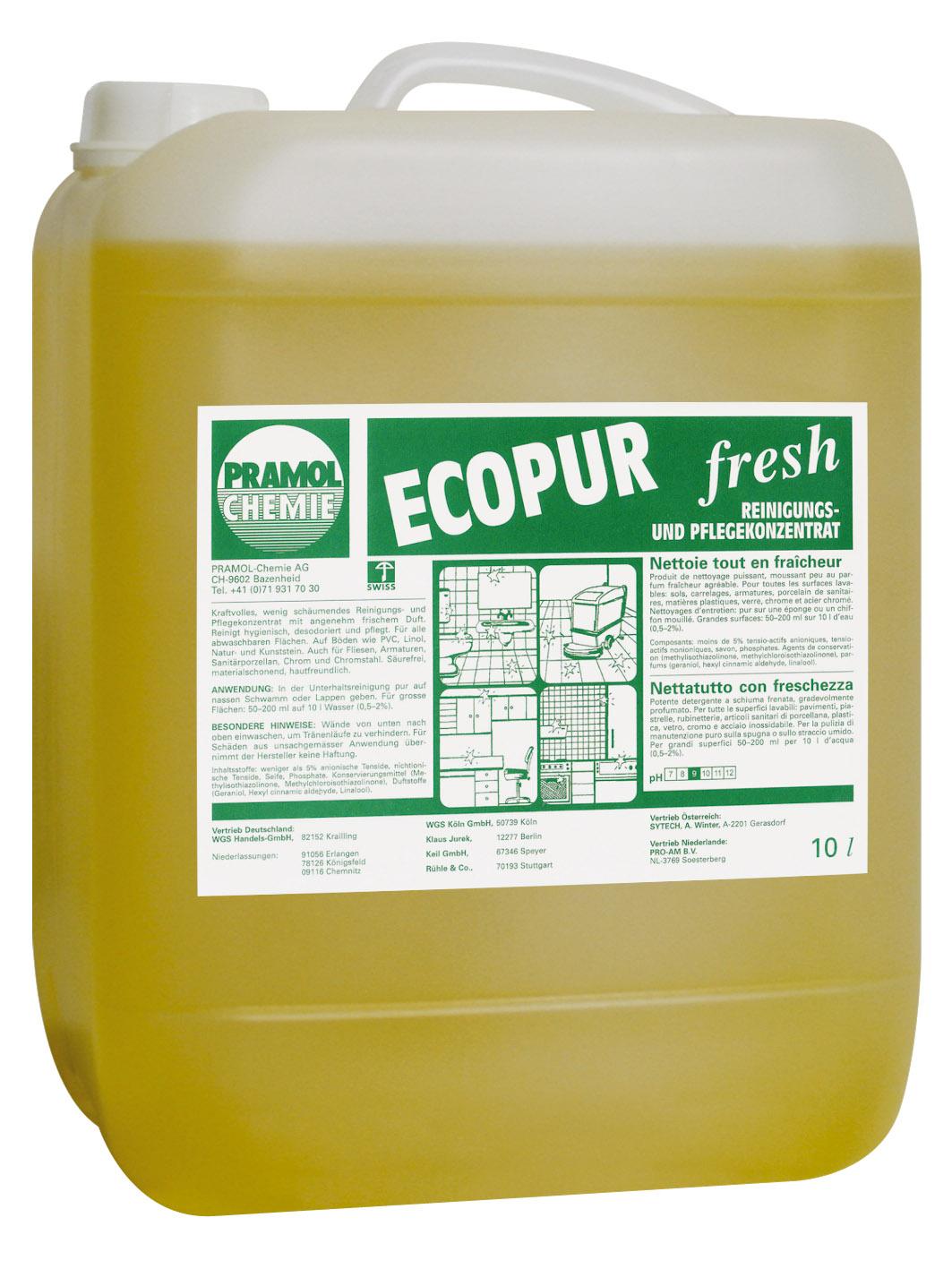 Pramol ecopur fresh, Reinigungs- und Pflegekonzentrat, 10 Liter