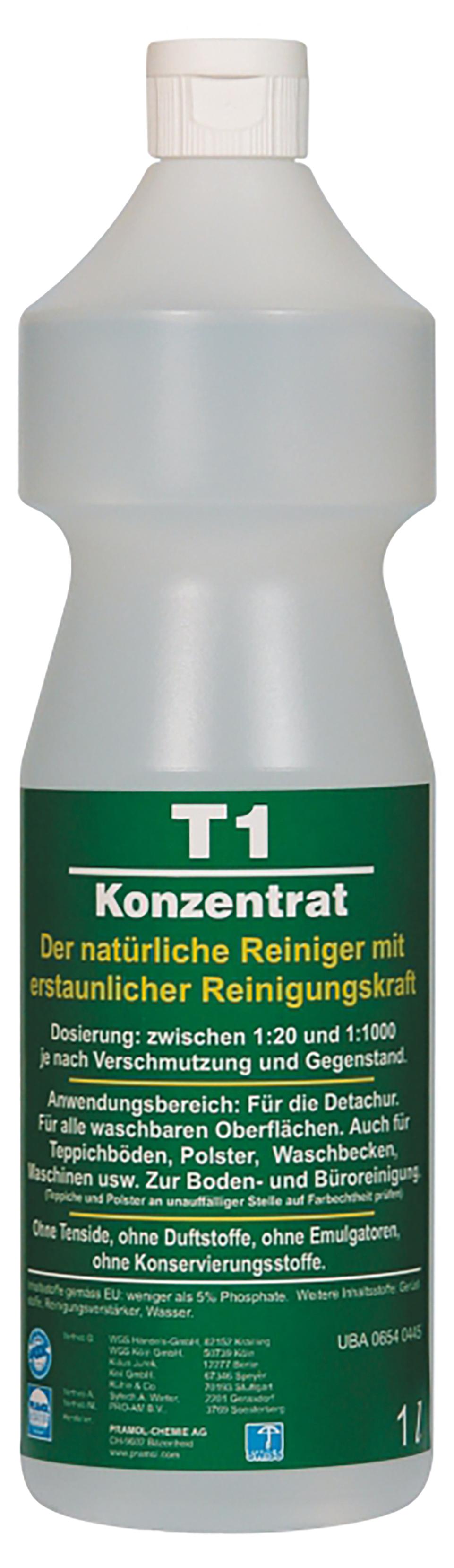 T1 Konzentrat, tensidfreier Reiniger, 1 Flasche, 1 Liter
