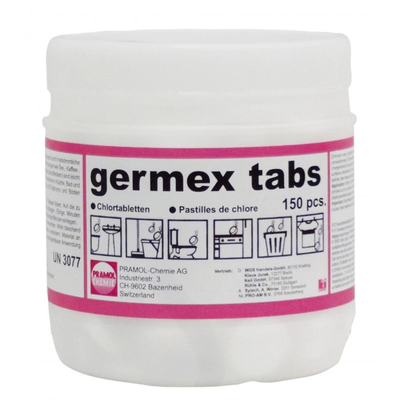 Germex Tabs, hygienische und bleichende Wirkung, Tabletten, 150 Stück