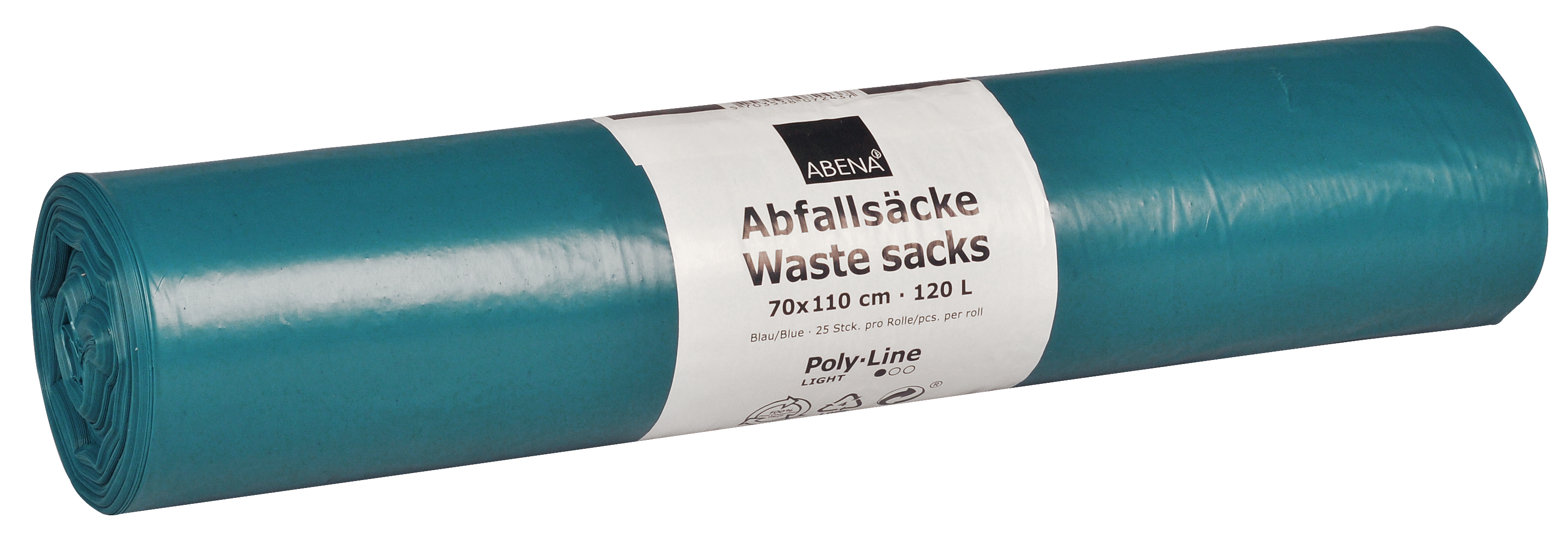 Poly-Line Abfallsack, 34 my, LDPE, 10 x 25 Stück, blau, 70x110cm/ 120 Liter