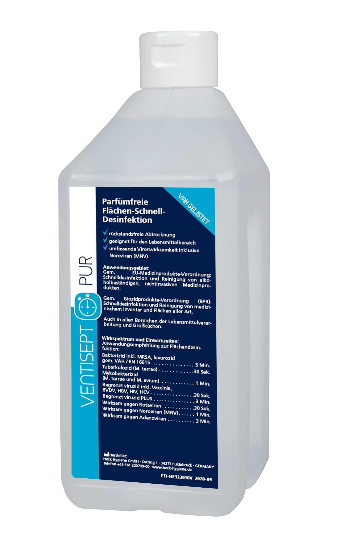 Ventisept Pur Schnelldesinfektion, alkoholhaltig, 1 Flasche, klar, 1 Liter