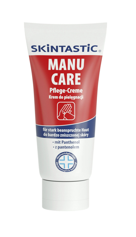 Skintastic Manu Care Hautpflegecreme, 1 Tube, für beanspruchte Haut, 100 ml