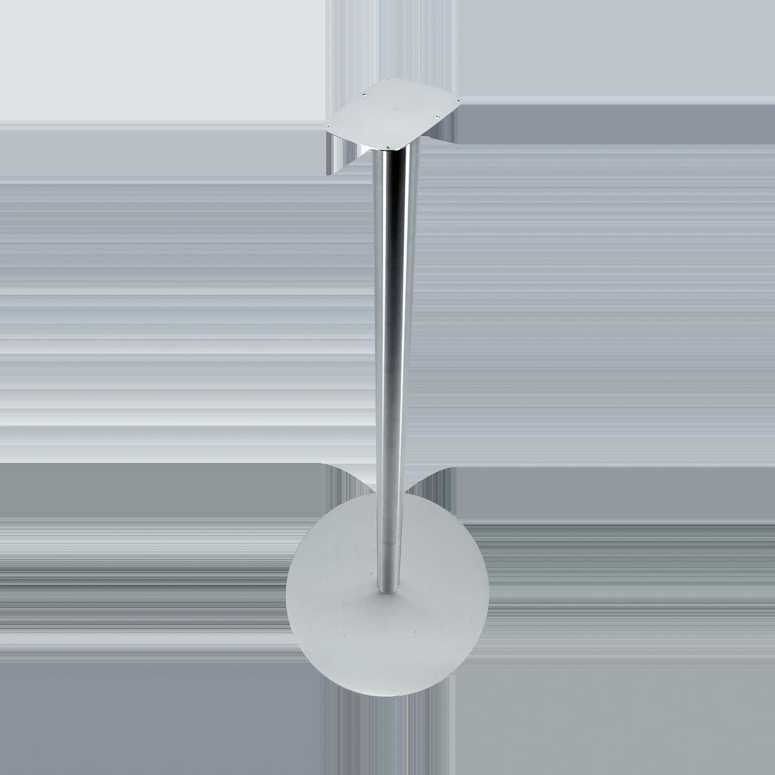 RX 5 T Standfuß, freistehend für RX5T (Art. Nr.: 55920), Edelstahl, silber, H 950 x Ø 385 mm