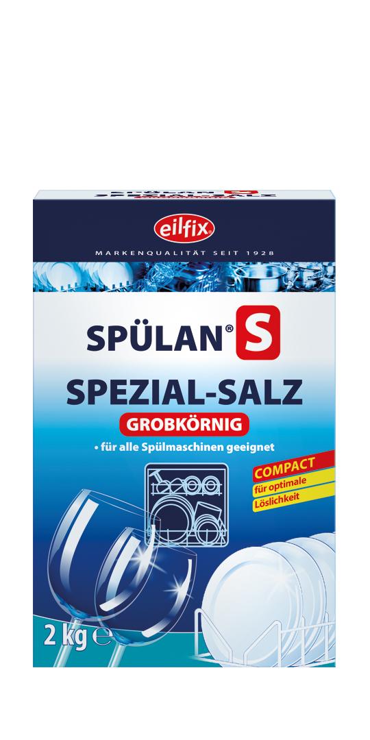 eilfix Spülan S Spezial-Geschirrspülsalz, grob, Regeneriersalz, 6 x 2 kg Packungen/Karton, weiß, 6 x 2 kg