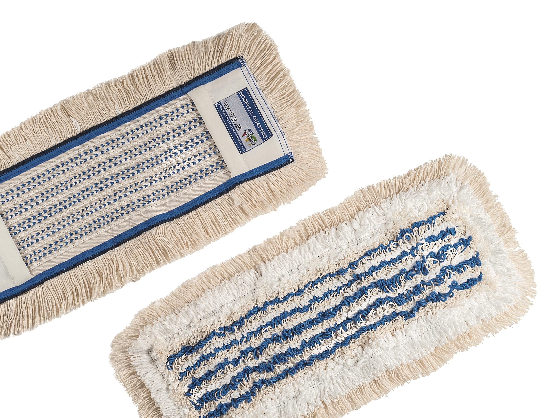Numatic NuTex Hospital Quattro, 4- Faser Moppbezug, beige/blau, 50 cm