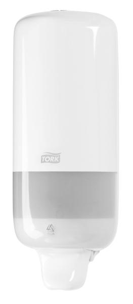 Tork Seifenspender Elevation, S1 - Flüssigseifen System, Kunststoff, weiß, 11 x 29 x 11,5 cm
