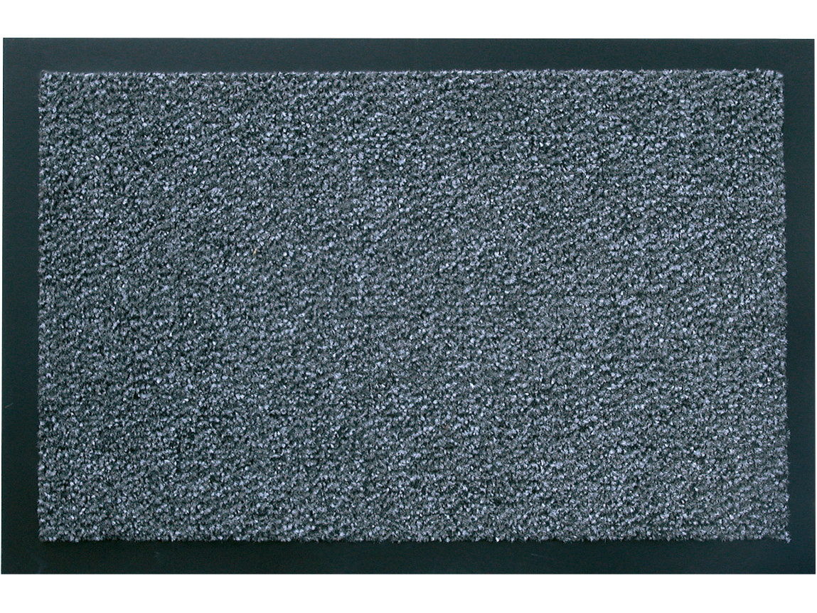 Schmutzfangmatte hochflorig, Polypropylen, rutschfester PVC Rücken, schwarz/meliert, 60 x 90 cm