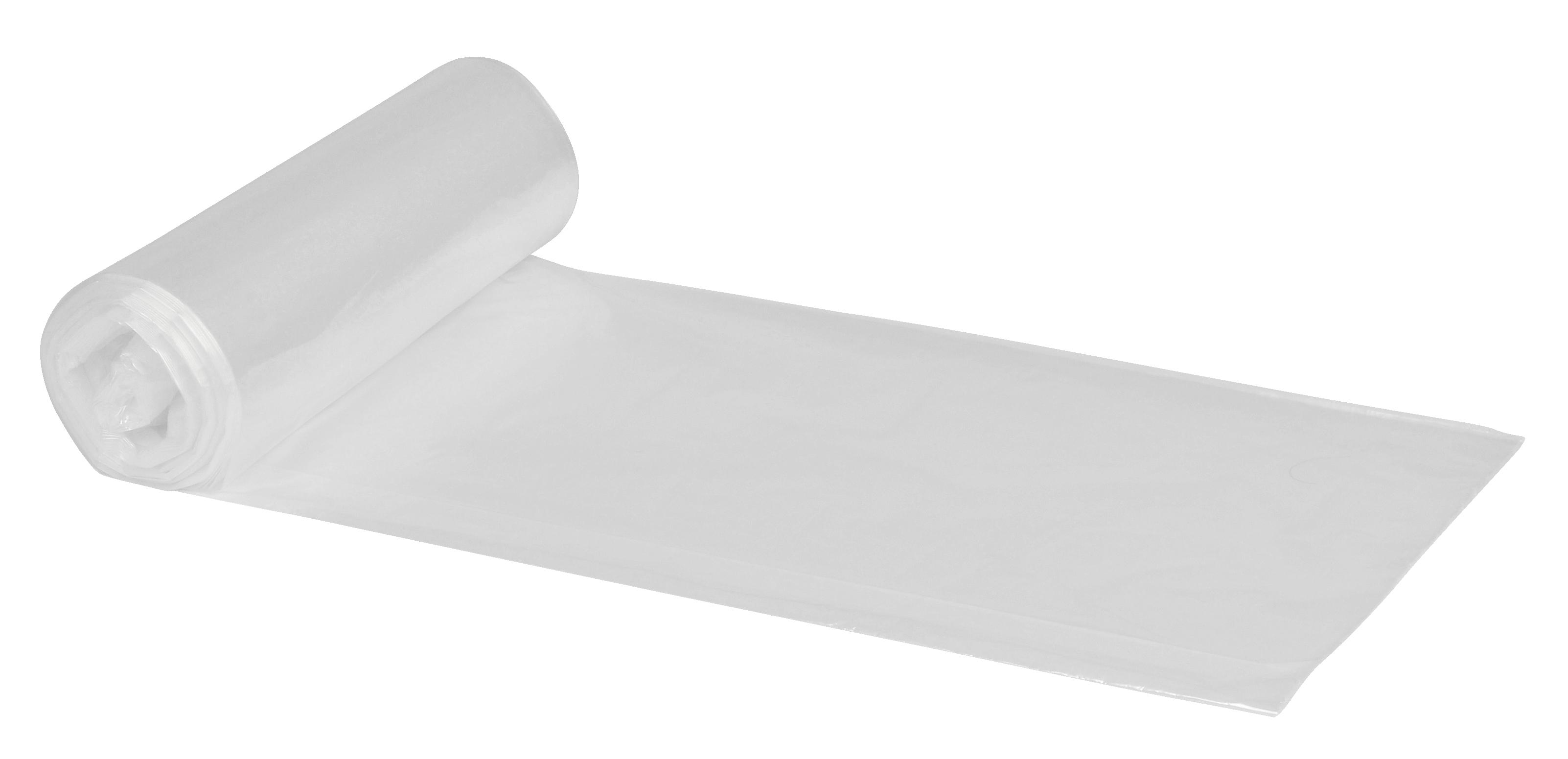 Poly-Line Müllbeutel, 15my, LDPE, 20 x 50 Stück, transparent, 60 x 70 cm/ 60 Liter