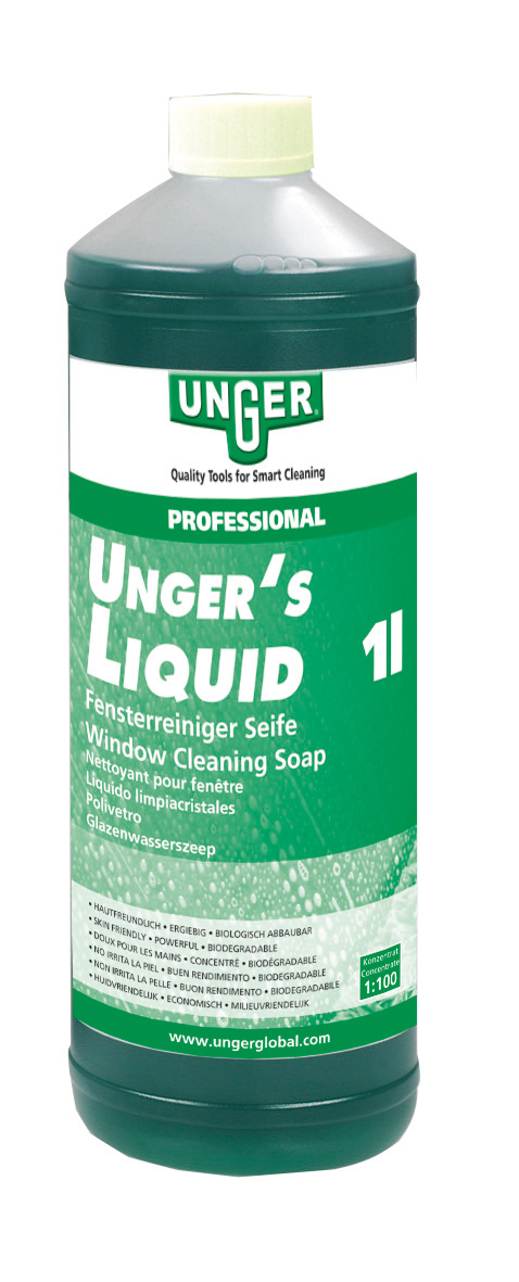 UNGER's LIQUID Fensterreinigungsseife, 1:100 Mischungsverhältnis, 1 Liter Konzentrat