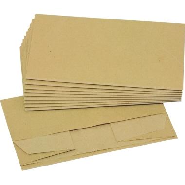 DEISS Bio Müllbeutel aus Papier, 70 g/m2, 10 Liter, 30 x 10 Stück/Karton, braun, 36 x 36 cm