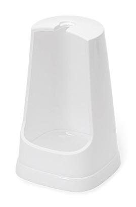 WC- Ersatz-Ständer, Kunststoff, weiß, 20 cm