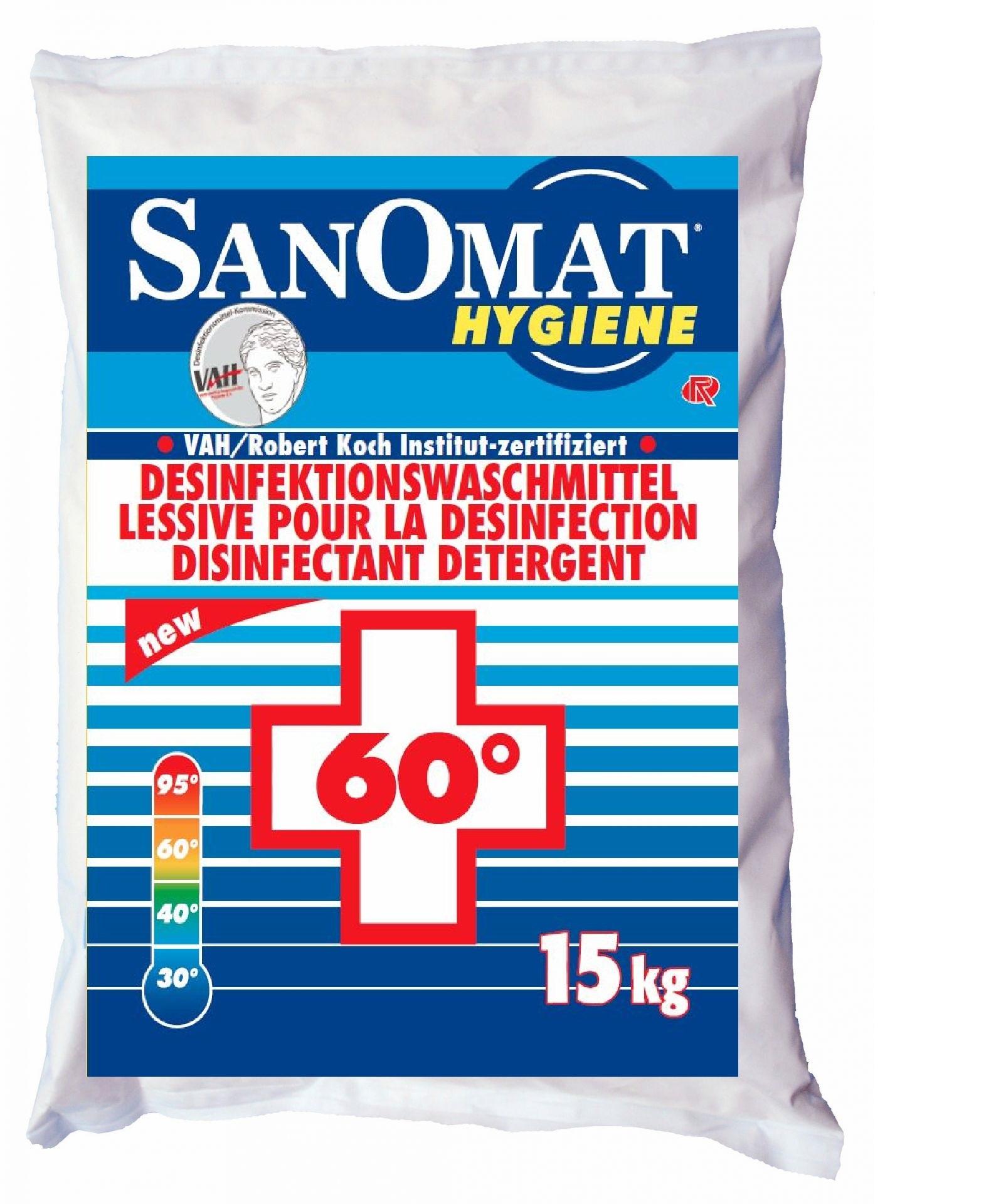 Desinfektionswaschmittel Sanomat, chemothermische Desinfektion VAH gelistet, weiß, 15 kg