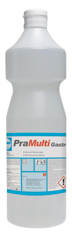 Pramol PraMulti Gastro alkalischer Oberflächenreiniger (Fettlöser), für den Gastrobereich, 1 Flasche, 1 Liter