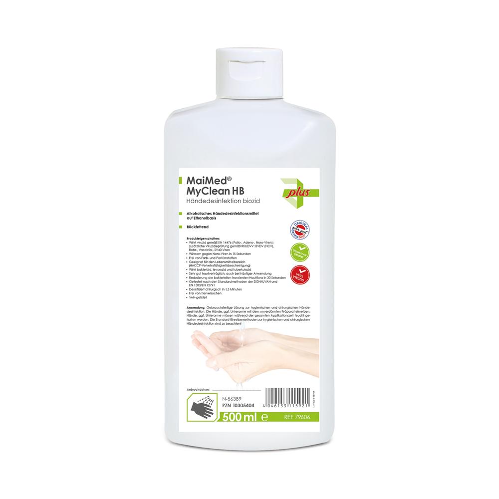 MaiMed MyClean HB, Händedesinfektion, Ethanol, 1 Spenderflasche, 500 ml