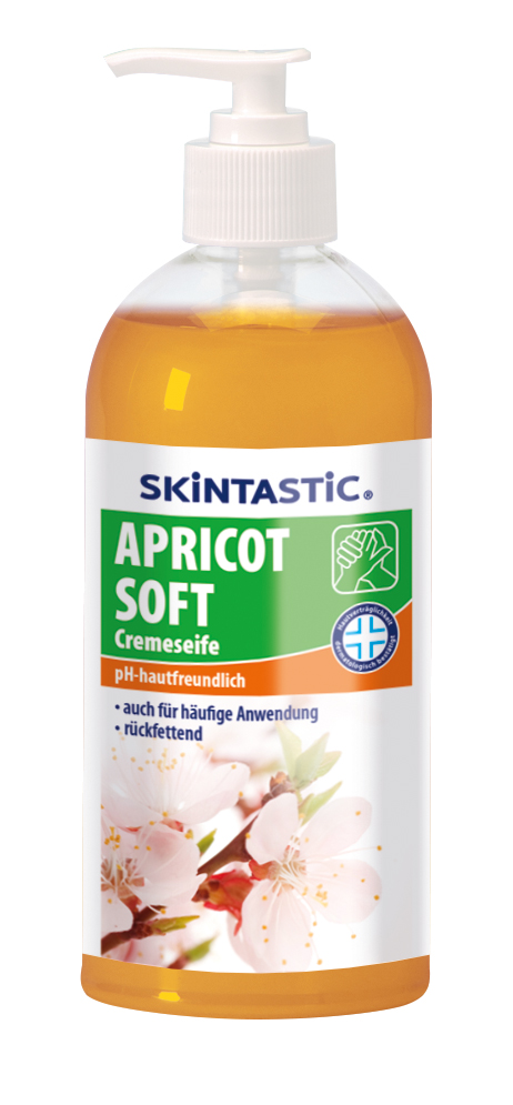Skintastic Cremeseife Aprikot, im Pumpspender, 500 ml