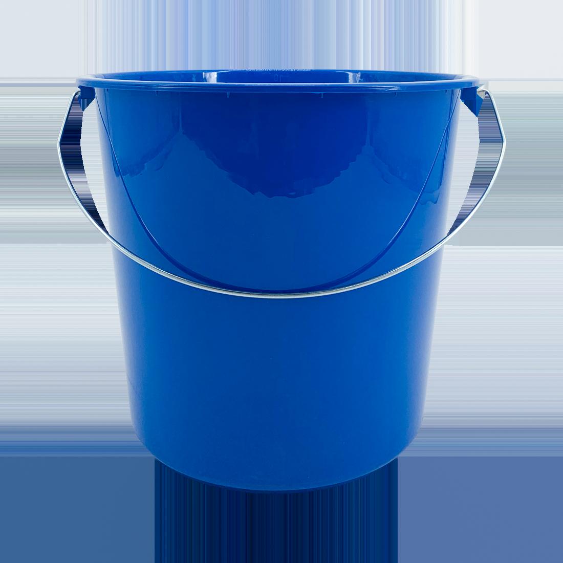 Eimer mit Metallbügel, Kunstoff, blau, 10 Liter