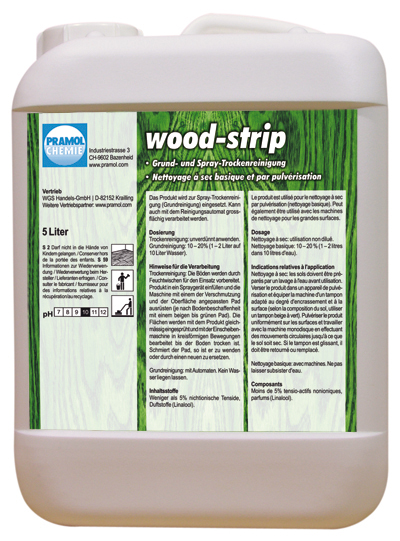 Pramol wood-strip Grundreinigung, für versiegeltes oder geöltes Parkett, 5 Liter