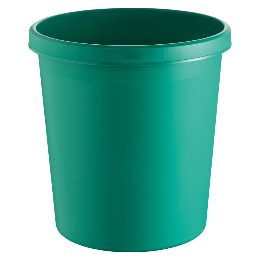 Papierkorb rund, Kunststoff, grün, 18 Liter