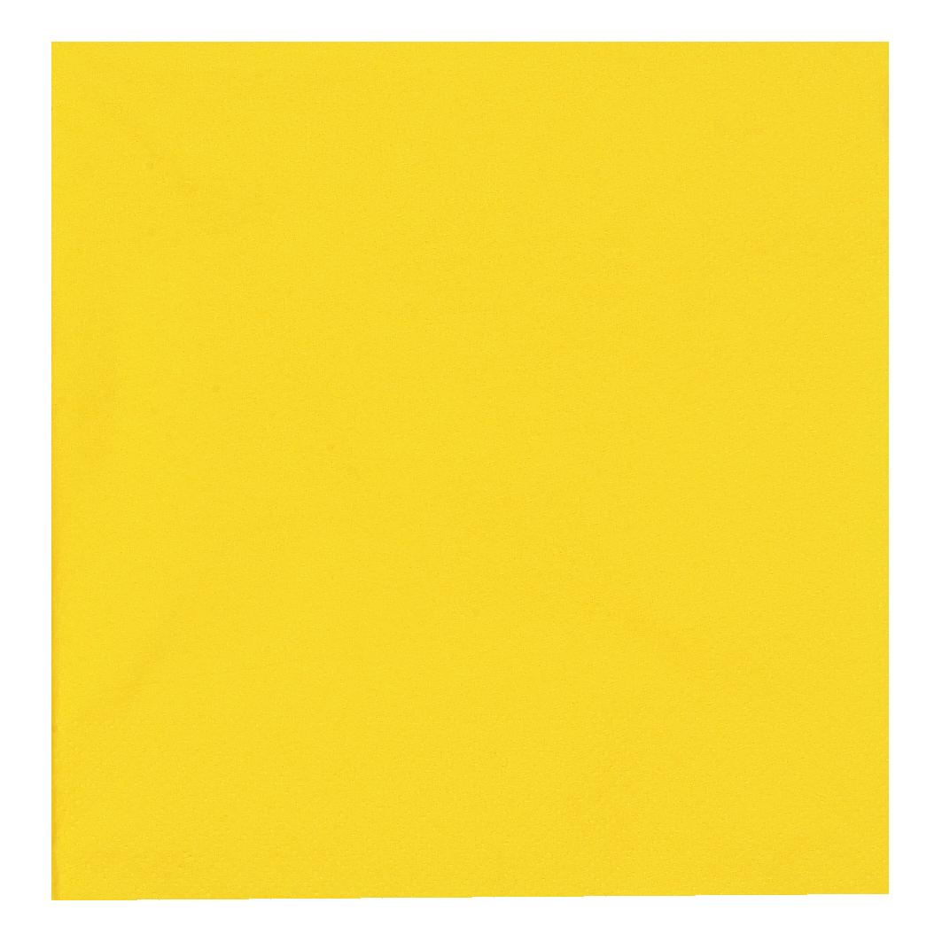 Servietten, 3-lagig, 1/4 Falz, 24x70 Stück/Karton, gelb, 33 x 33 cm