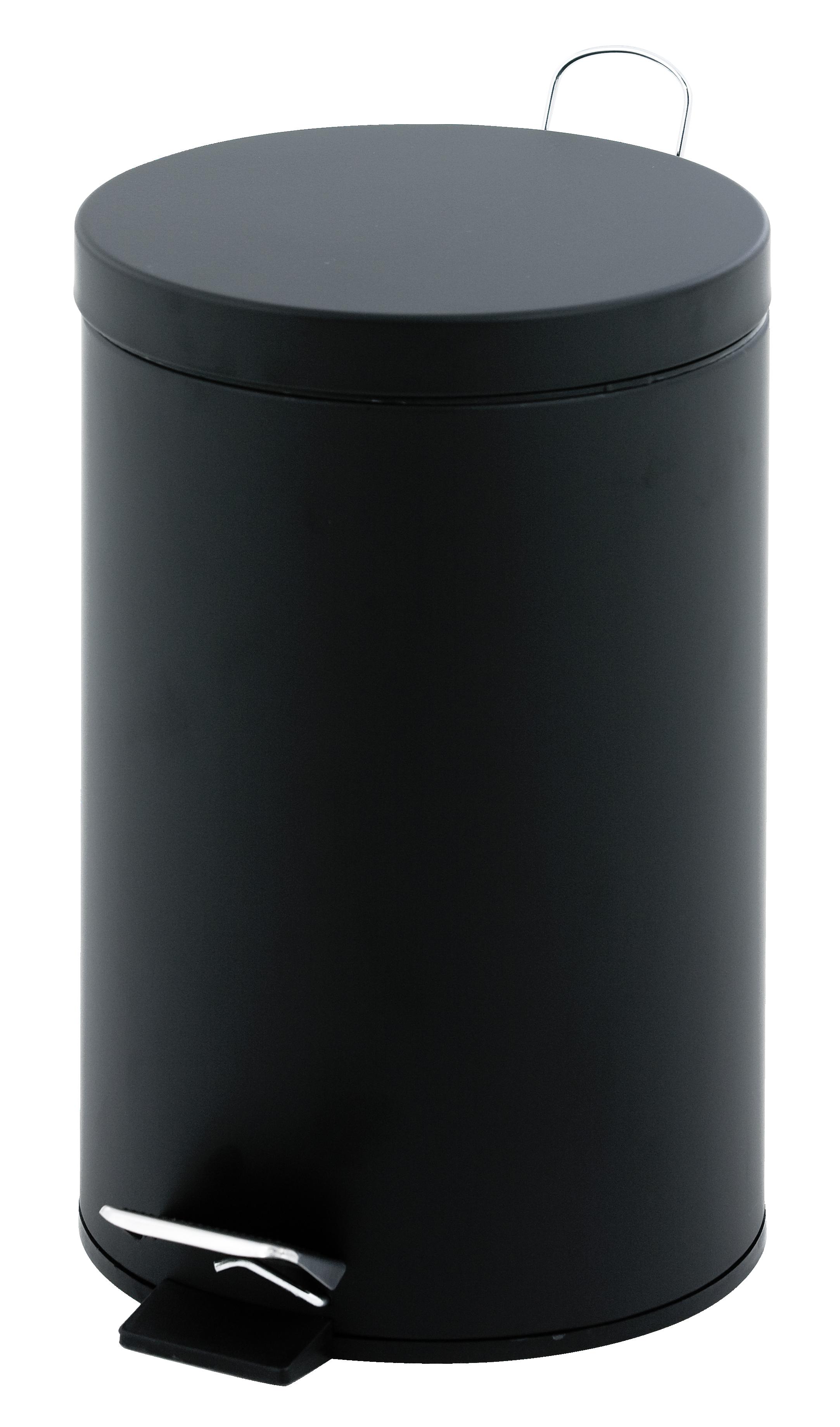 Kosmetikeimer Metall, 3 Liter, schwarz, 26 x 17 cm