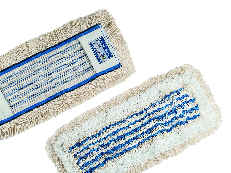 Numatic NuTex Hospital Quattro, 4- Faser Moppbezug, beige/blau, 40 cm