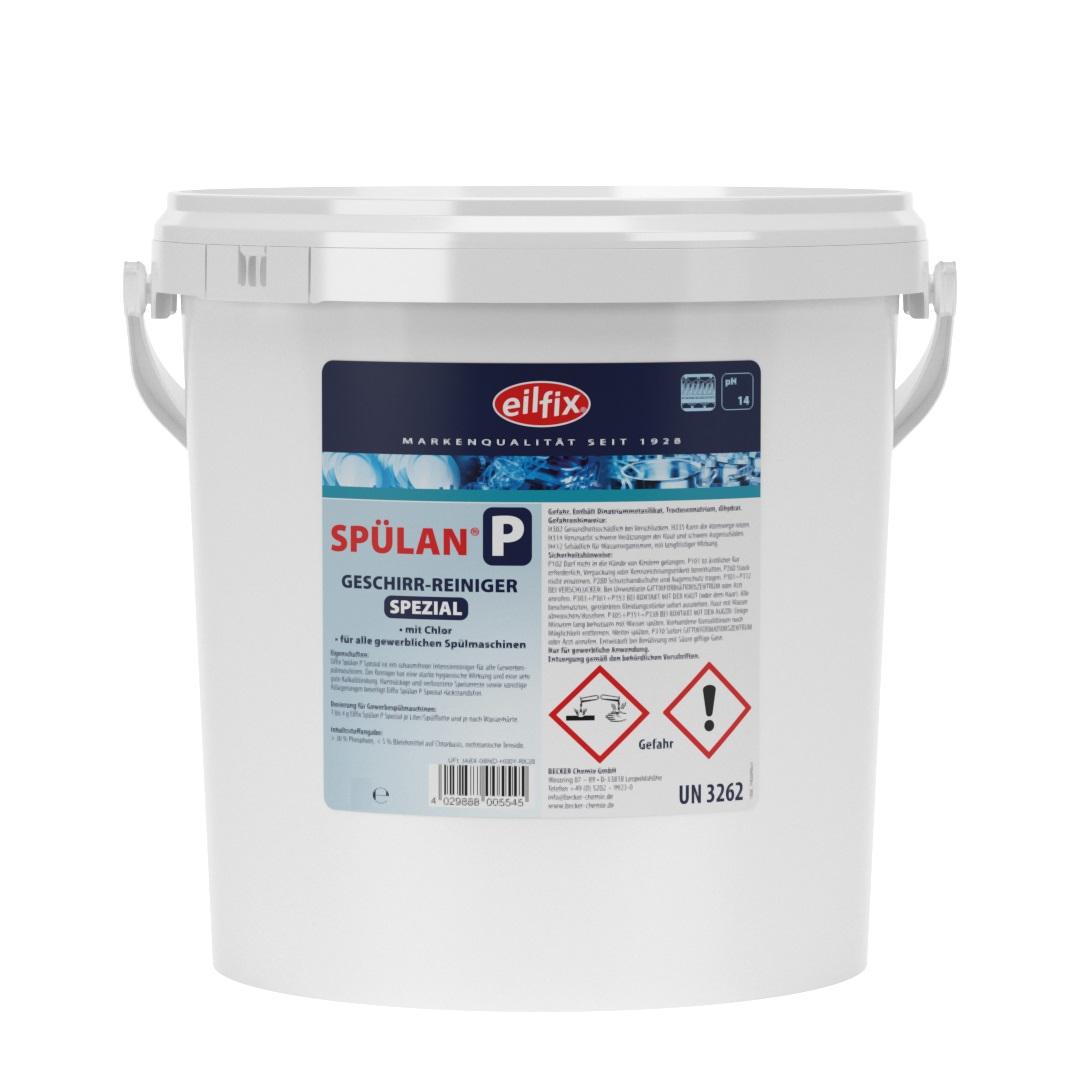 eilfix Spülan S Pulver für Spülmaschinen, für Hartwasser und kurze Taktung, 5 kg