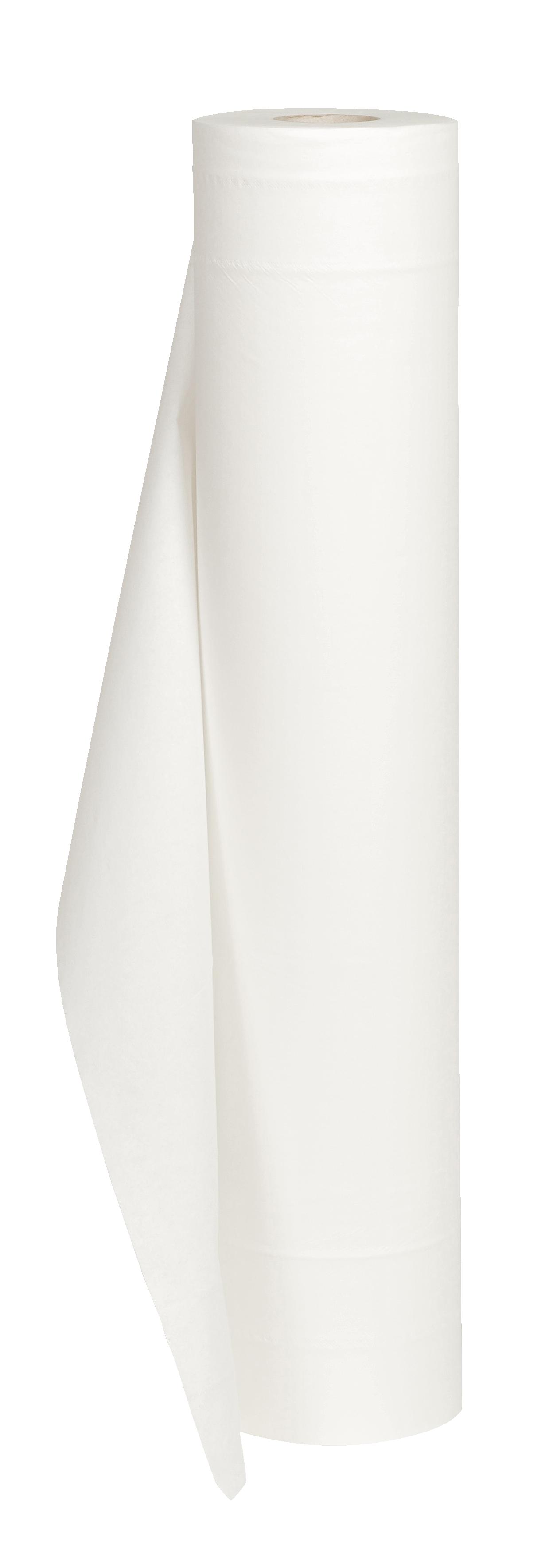 Wickelunterlage Zellstoff, perforiert, weiß, 2-lg., 9 Rollen, 59 cm x 50 m