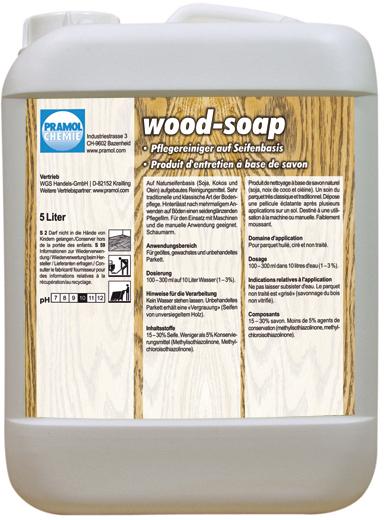 Pramol wood-soap, Parkettreinigung, weiß, 5 Liter